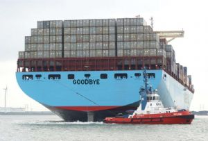 image: Maersk container shipping logistics box carrier energy division drilling appointments and departures