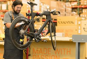image: US SEKO freight logistics omni-channel Canyon bicycles bikes racking warehouse management system
