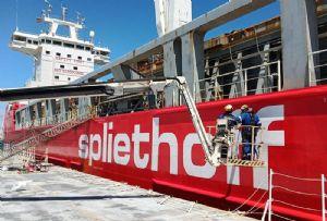 image: Netherlands dwt MV ships heavy lift vessels Hansa BigLift Spliethoff tonnes crane