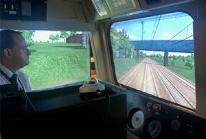 image: UK derailed locomotive rail freight logistics training simulators GBRF