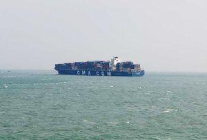 image: CMA CGM Libra P&I club Seafarers� cargo freight unseaworthy Port of Xiamen shallows listing