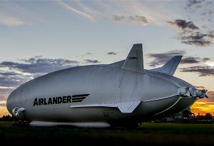 image: UK Airlander 10 freight passenger blimp aircraft airship prototype HAV304