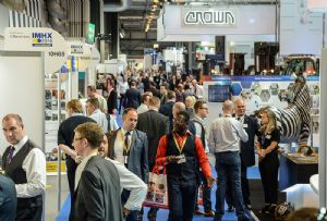 image: IMHX 2019 UK logistics exhibition conference materials handling exhibitors record number