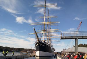 image: Trelleborg Finland Swedish maritime marine EE engineering Pommern four masted steel barque