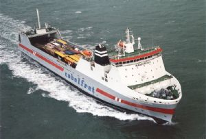 image: Belgium Sweden DFDA Stora Enso logistics freight ferry RoRo cargo service Zeebrugge Gothenburg tonnes