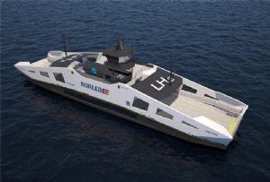 image: Europe hydrogen fuel biodiesel merchant zero emission RoRo freight ferry