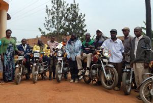 image: Transaid freight logistics emergency motorcycle training Congo