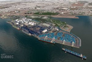 image: Canada deep water container port terminal Quebec Laurentia Beauport 2020 logistics