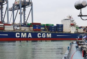 image: France CEVA CMA CGM container shipping line freight forwarding logistics cost cutting restructuring APL ANL routes Transpacific services