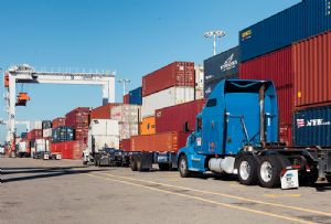 image: US Port of Oakland container freight congestion air quality FITS Alameda County Transportation Commission
