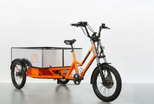 image: UK Netherlands cargo tricycles road haulage operations trikes e-trikes RadBurro logistics urban delivery emissions