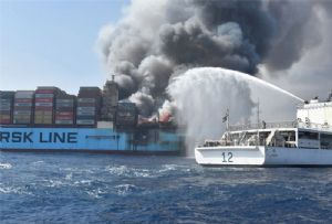 image: Asia shipping losses fire container insurance claims cargo vessels ships Allianz Global Corporate & Specialty