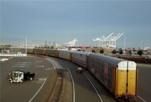 image: US Port of Oakland freight cargo flows trade tariff China containerised restrictions