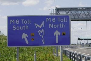 image: UK Midland Expressway Limited Road Haulage Association (RHA) heavy drivers M6 toll