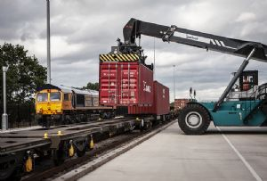 image: UK Containerships multimodal supply chain rail freight road haulage