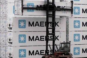 image: Denmark Maersk ocean shipping freight forwarder cargo container guarantee overbookings