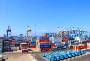 image: Morocco shipping container freight cargo transhipment Africa APM terminals Maersk port