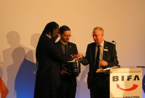image: UK logistics BIFA freight forwarders awards Levi Roots