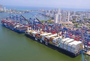 image: Colombia Swiss logistics NVOCC freight forwarder Panalpina Port of Cartagena Spanish Conquistadors Silver five centuries LCL container freight cargoes