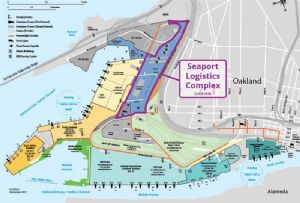 image: US Port of Oakland CenterPoint development freight logistics terminal