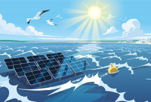 image: Belgium solar pv Aquaculture wind power floating technology