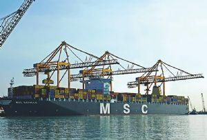 image: Saudi Arabia container freight bulk cargo King Abdullah Port quay cranes