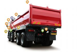 image: UK Brigade Electronics Backsense radar road haulage urban cyclists vulnerable trucks HGVs