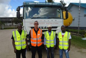 image: Tanzania Transaid Fowler Welch road haulage logistics staff driver trainers NIT