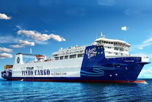 image: UK RMT P&O Ferries Finbo Cargo maritime union seafarers rights charter vessel RoRo ferry