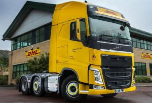 image: UK DHL road haulage freight logistics truck lorry fleet safety liquefied gas