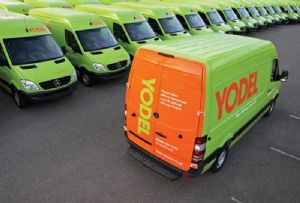 image: UK GMB Yodel Hermes self-employed parcel delivery drivers