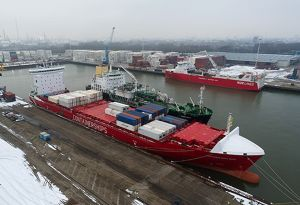 image: France Netherlands Switzerland CMA CGM LNG container shipping company logistics bunkering