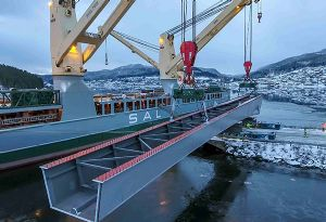 image: China Norway Garman SAL Heavy lift freight forwarding cargo project bridge fjord metres tonnes