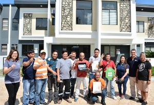 image: Philippines International Container Terminal Services ICTSI port house raffle workers employees programme