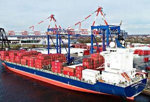 image: US Ireland Liebherr Container Cranes Port Newark terminal Penn