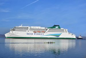 image: UK Irish Ferries RoRo freight passenger WB Yeats RMT Brexit flags of convenience