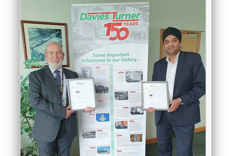 image: UK, freight, forwarding, logistics, Davies Turner, environmental, ISO14001:2015