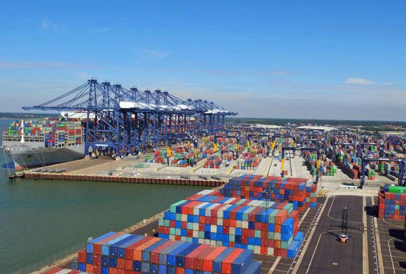 image: UK, BIFA, freight, forwarders, global, supply, chain, Felixstowe, panic, logistics, TEU, container, traffic,
