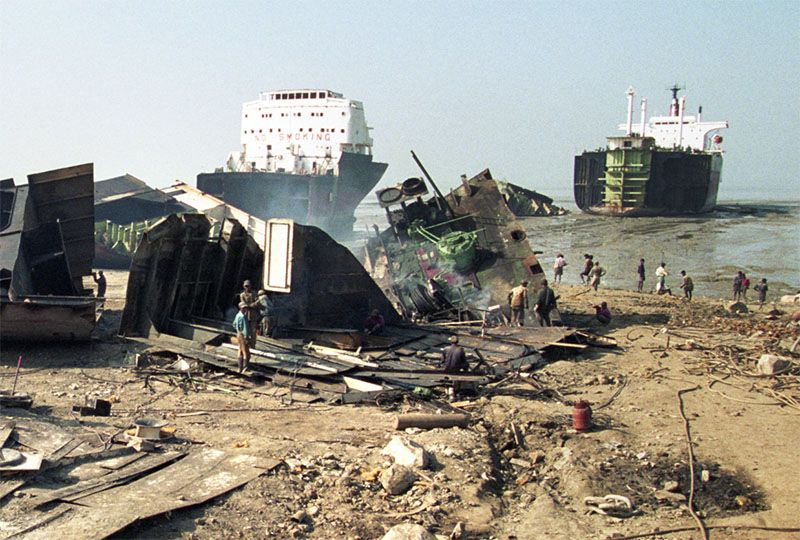image: BIMCO, scrapping, recycling, India, Panama, old, ships, vessels,