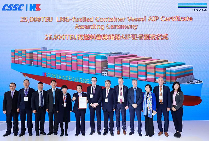 image: US China Denmark shipping logistics freight forwarding news ship building