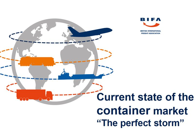 image: UK, BIFA, freight, forwarders, forwarding, container, shipping, capacity, logistics, delays,