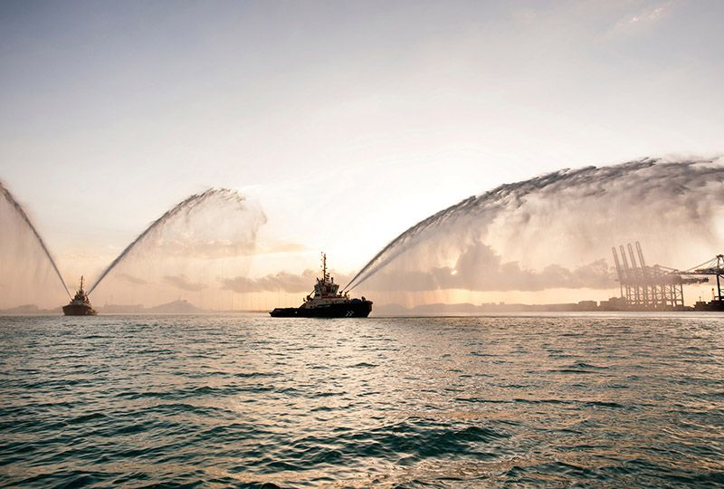 image: Abu Dhabi ships horns of hope vessels IMO harbour critical personnel Covid-19 coronavirus