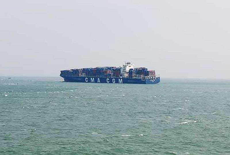 image: China UK CMA CGM Libra grounded vessel container ship maritime insurance General Average Shipowners Club