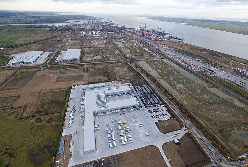 image: UK London Gateway DP World Ziegler freight forwarding logistics park