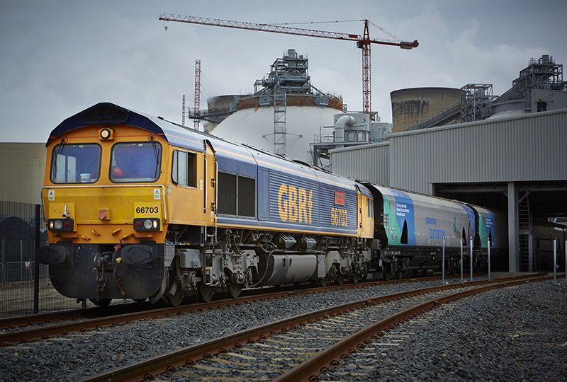image: UK, Drax, power station, GBRf, GB, rail, freight, biomass, pellets, Tyne, Liverpool,