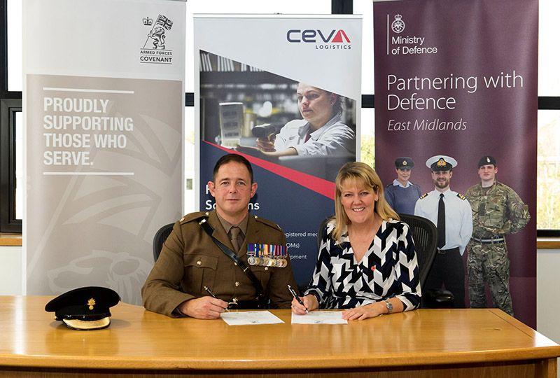 image: UK logistics Armed Forces Covenant CEVA