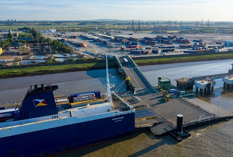 image: UK, France, Germany, freight, logistics, snippets, news, container, RoRo, terminal,