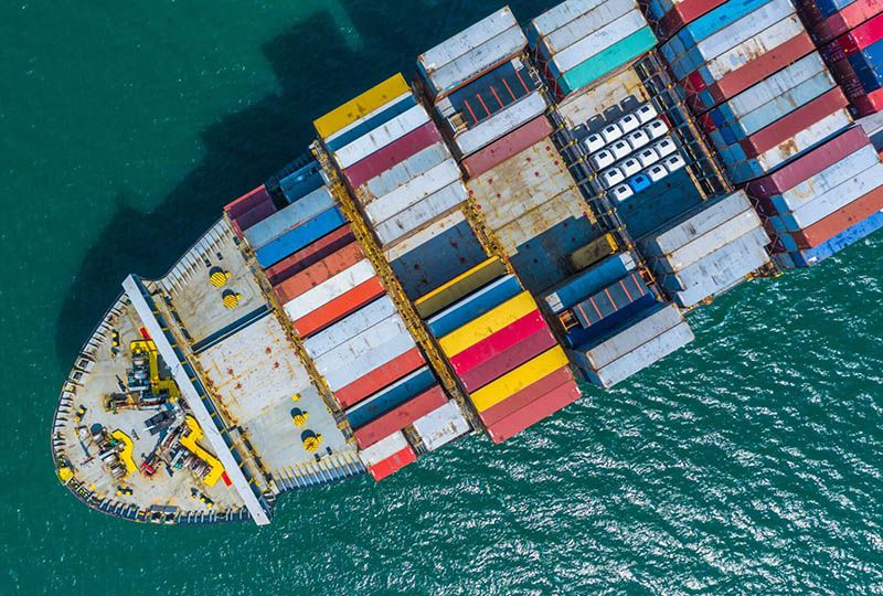 image: DCSA digital, shipping, container, IoT, MSC, Maersk, box vessel, ports, terminals, container yards, inland logistics,