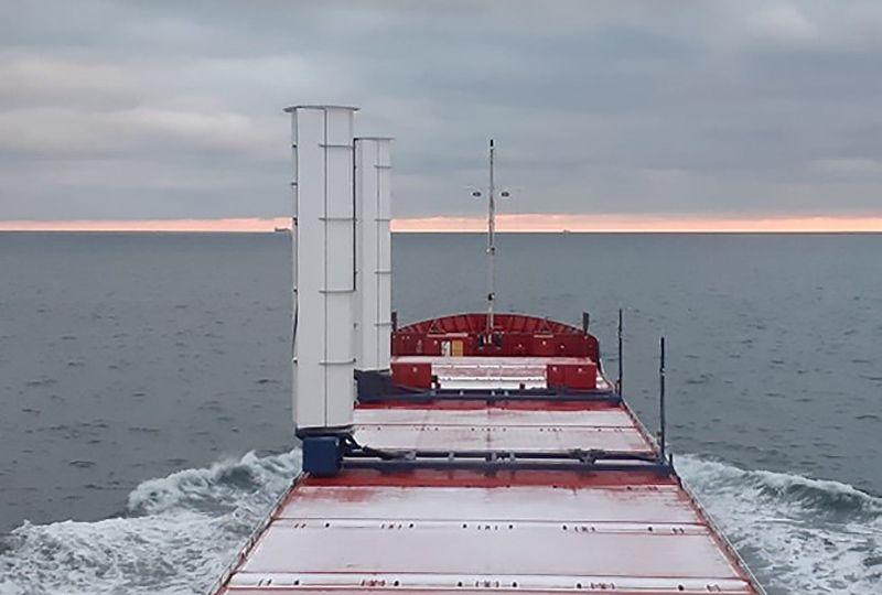 image: Netherlands, Sweden, Boomsma, shipping, Flettner, rotor, Maersk, merchant vessel, cargo, eConowind VentiFoil,