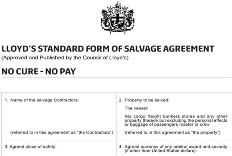 image: UK, Lloyd�s, Council, maritime, salvors, Standard Form of Salvage Agreement,